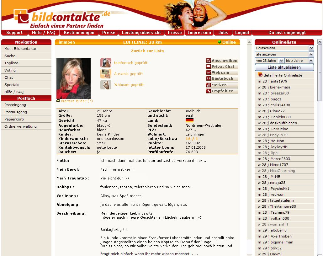 Partnersuche profile